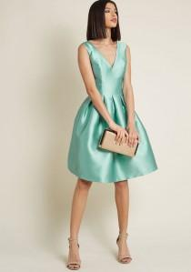 wedding photo - Chi Chi London Sweetly Celebrated Fit And Flare Dress In Sage