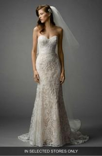 wedding photo - Nyra Embroidered Strapless A-Line Gown
