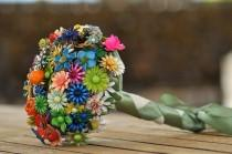 wedding photo - CUSTOM Wedding Jewelry Brooch Bouquet - to fit your style, budget & colors, OOAK, vintage bridal bouquet