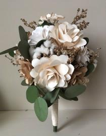 wedding photo - Vintage Bloom Paper Flower Bouquet