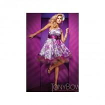 wedding photo - Tony Bowls Shorts Floral Organza One Shoulder Short Prom Dress TS11188 - Brand Prom Dresses