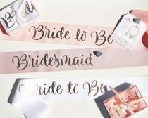 wedding photo - Custom Hens Party Sashes With Pin Included / Bride to Be Sash / Future Mrs Sash / Customized sash / Bachelorette Party / Bachelorette Sash