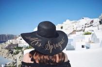 wedding photo - Custom Mrs Hat - Sequin Sun Hat - Bride Hat - Beach hat - Custom floppy hat - Bride to be hat - Beach Bride - Just Married Hat - Honeymoon