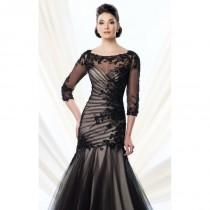 wedding photo - Lcae Evening Gown by Ivonne D Exclusively for Mon Cheri 214D55W - Bonny Evening Dresses Online