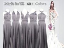 wedding photo - Floor-Length Infinity Dress long bridesmaid dress infinity bridesmaid dress silver grey long infinity dress bridesmaid convertible dress