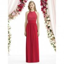 wedding photo - After Six 6742 Lux Chiffon over Sequin Bridesmaid Gown - Brand Prom Dresses
