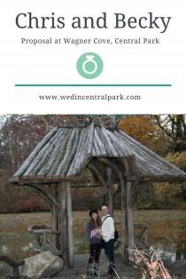 wedding photo - Chris And Becky's Engagement At Wagner Cove In Central Park