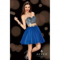 wedding photo - Sapphire/Silver Alyce Paris Homecoming 4410 - Brand Wedding Store Online