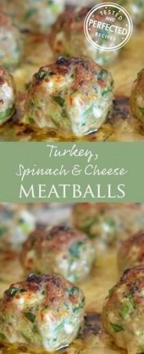 wedding photo - Turkey, Spinach & Cheese Meatballs