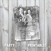 wedding photo - Printable Anniversary Photo Invitation
