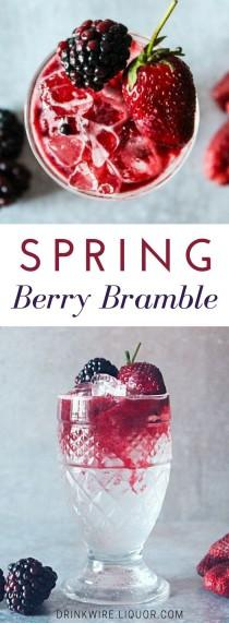 wedding photo - Welcome Spring With A Gin-tastic Fresh Berry Bramble
