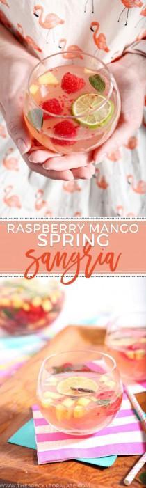 wedding photo - Raspberry Mango Spring Sangria