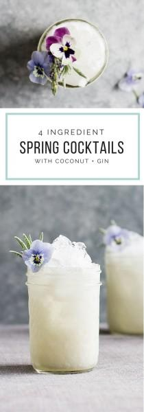 wedding photo - Spring Drink: Floral Coconut Gin Crush
