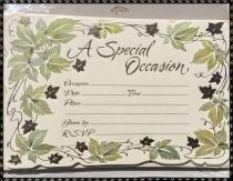 wedding photo - A SPECIAL OCCASION Carlton CARDS 40 Invitations & 40 Envelopes  *Vintage Design*