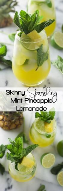 wedding photo - Skinny Sparkling Mint Pineapple Lemonade