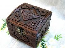 wedding photo - Ring bearer box Wedding ring box Wedding jewelry box Ring bearer wedding box Wedding ring holder Wedding wood box Ring bearer pillow box B45