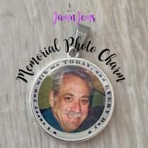 wedding photo - Wedding Memorial Bouquet Charm Custom Photo Charm Personalized Bouquet Picture Charm Gift for Bride In Memory of Dad Memorial Photo Jewelry