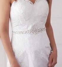 wedding photo - Crystal Wedding Belt Sash, Bridal Sash, Wedding Dress Belt, Bridal Belt, Bridal Gown Belt, Silver Crystal Bride Belt- Style 786