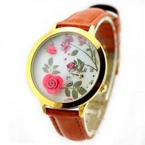 wedding photo - New Flower Gold Edge Polymer Clay Watch