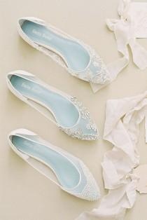 wedding photo - 27 Flat Wedding Shoes For Lovers Of Comfort & Style