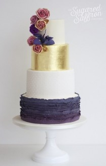 wedding photo - Fabulous Wedding Cakes From Sugared Saffron Cake Studio