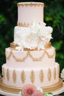 wedding photo - Glamorous Blush And Gold Destination Wedding In Rome
