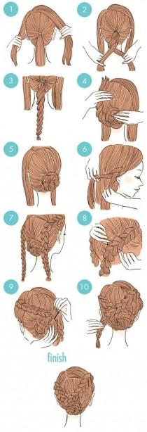 wedding photo - 20 Easy And Cute Hairstyles That Can Be Done In Just A Few Minutes