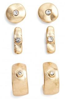 wedding photo - Set Of Three Stud Earrings