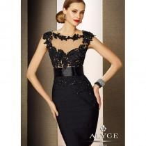 wedding photo - Black Label by Alyce 5651 Lace Bandage Dress - 2018 Spring Trends Dresses