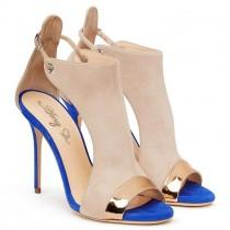 wedding photo - Buy Women Suede Shoes, Peep Toe High Heels Sandals, Nude, Brown At LeStyleParfait.Com For Only $87.00 USD