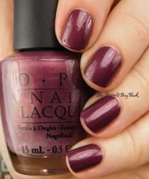 wedding photo - OPI Catherine The Grape With Accent Nail #vintagepolishfriday