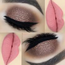 wedding photo - 25 Easy Glitter Eye MakeUp Ideas