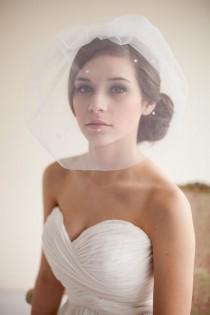 wedding photo - 10 Glamorous Birdcage Veils For Your Big Day