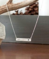 wedding photo - Arrow Necklace - Silver Arrow - Arrow Jewelry