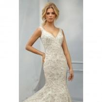 wedding photo - Antique Silver Beaded Mermaid Gown by Angelina Faccenda by Mori Lee - Color Your Classy Wardrobe