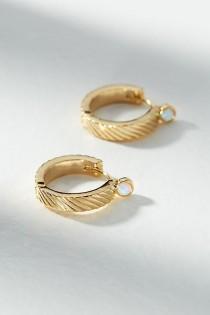 wedding photo - Francoise Hugger Hoop Earrings
