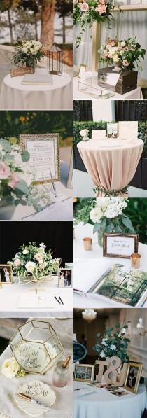 wedding photo - 15 Trending Wedding Guest Book Sign-in Table Decoration Ideas