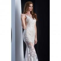 wedding photo - White Lace Long Gown by Jasz Couture - Color Your Classy Wardrobe