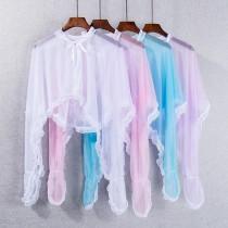 wedding photo - Must-have Sweet Agaric Fold Summer Sunproof Shawl - Lafannie Fashion Shop