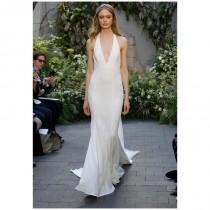 wedding photo - Monique Lhuillier Marlowe - Sheath V-Neck Natural Floor Chapel Tulle - Formal Bridesmaid Dresses 2018