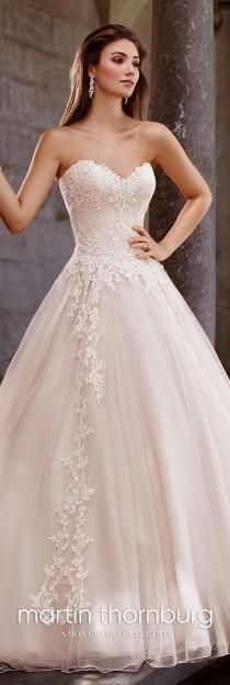 wedding photo - Lace A-Line Sweetheart Neckline Wedding Dress- 117267 Topaz