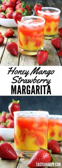 wedding photo - Honey Mango Strawberry Margarita