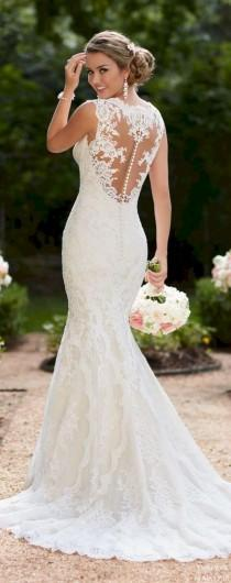 wedding photo - 45  Beautiful White Lace Wedding Dress Open Back Ideas