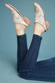 wedding photo - Lucchese Fay Floral Mules