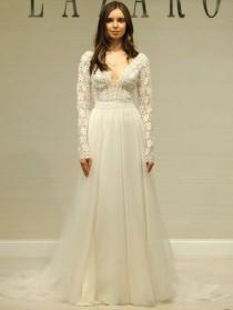 wedding photo - Lazaro Spring 2019: Delicate, Lustrous Gowns