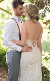 wedding photo - Botanical Lace Wedding Gown