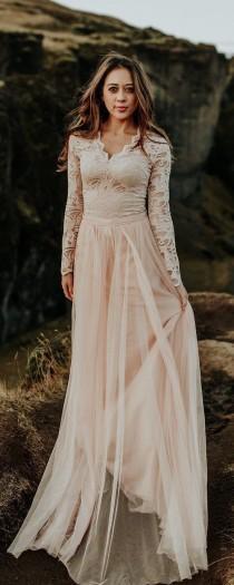 wedding photo - Boho Wedding Dress, Wedding Skirt, Wedding Dress, Bridal Skirt, Bridal Dress, Wedding Dress, Tulle Wedding Dress, Blush Tulle Skirt