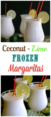 wedding photo - Coconut Lime Frozen Margaritas