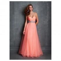 wedding photo - Elegant Tulle Sweetheart Neckline A-line Evening Dress With Train - overpinks.com