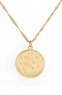 wedding photo - Jewelry Ascending Zodiac Medallion Necklace